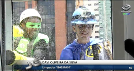 Super-heróis nas janelas do Hospital são destaque na TV Gazeta