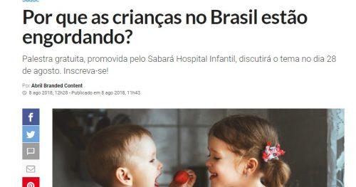 Veja São Paulo fala sobre obesidade