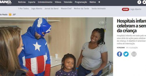 Jornal da Band mostra super-heróis no Sabará