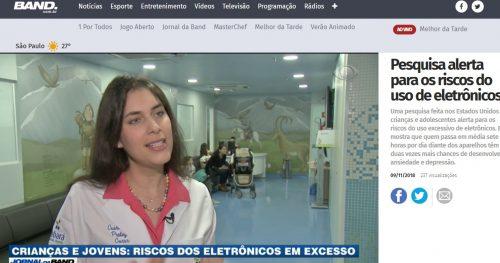 Jornal da Band entrevista médica e paciente do Sabará