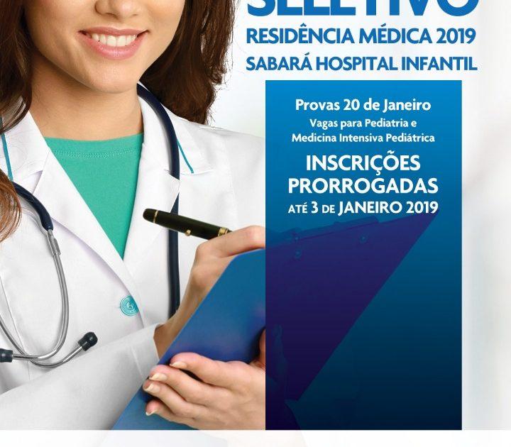 Sabará lança residência em Pediatria