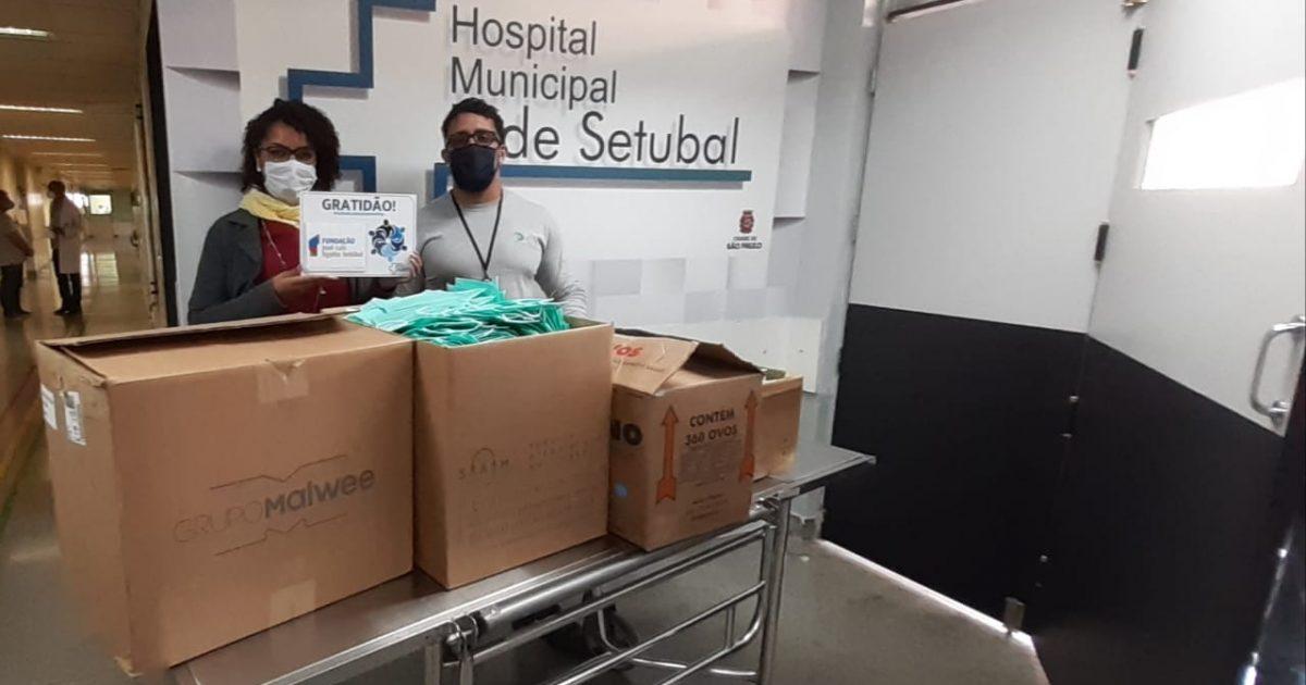 Hospital Tide Setúbal recebe doação de 9 mil máscaras cirúrgicas