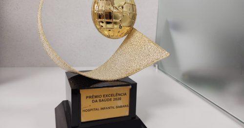 Sabará Hospital Infantil é homenageado com o Prêmio Excelência da Saúde 2020