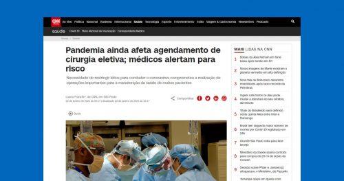 Cancelar cirurgias eletivas podem trazer sérios riscos aos pacientes